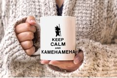 Son Goku Tasse Keep Calm and Kamehameha Dragon Ball einfarbig MoonWorks®