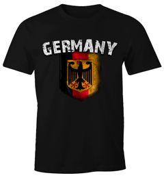 Cooles Herren Fußball WM EM T-Shirt Deutschland Flaggen Design Vintage Look