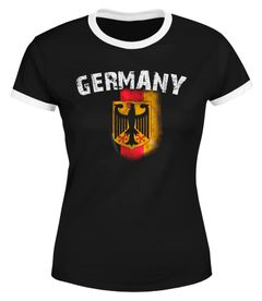 Cooles Herren Damen WM 2018 T-Shirt Deutschland Flaggen Design Vintage Look