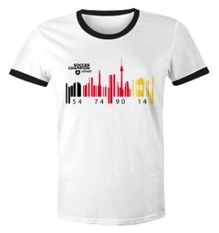 Herren WM-Shirt Deutschland WM Flagge Barcode Skyline Berlin 2018 Retro