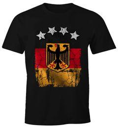 Cooles Herren T-Shirt Deutschland Fan-Shirt WM 2018 Fußball Weltmeisterschaft Moonworks®