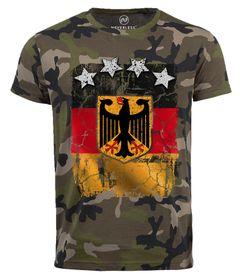 Cooles Herren Camo-Shirt WM Deutschland Fußball Design Sterne T-Shirt Neverless®