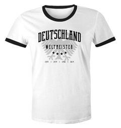 Herren WM-Shirt Deutschland T-Shirt Fußball Weltmeistser Adler vier Sterne Moonworks®