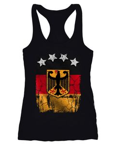 Cooles Damen Tank-Top Fußball WM Deutschland Flagge Vintage Moonworks®