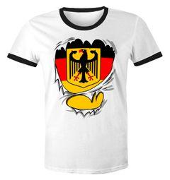 Lustiges Herren WM-Shirt Rip Off Superstar WM Deutschland Fan 2018 Retro
