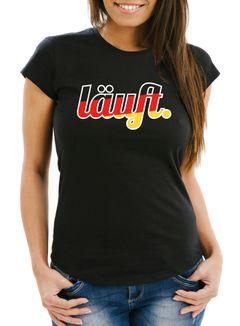 Damen WM-Shirt Läuft - Deutschland Fußball Fan-Shirt