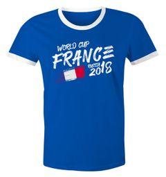 Herren WM-Shirt Frankreich France Fan-Shirt WM Fußball Weltmeisterschaft 2018 World Cup