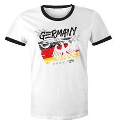 Herren WM-Shirt WM Fußball Weltmeisterschaft 2018 World Cup Deutschland Adler Vintage Moonworks®