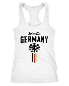 Damen WM Tanktop Fan-Shirt Deutschland Fußball Weltmeisterschaft 2018 Berlin Adler Moonworks®