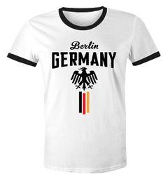 Herren Retro WM-Shirt Fan-Shirt Deutschland Fußball Weltmeisterschaft 2018 Berlin Adler Moonworks®