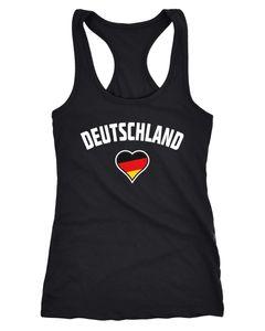Damen Tanktop Deutschland Herz WM Fußball Weltmeisterschaft 2018 World Cup Fan-Shirt Germany Moonworks®