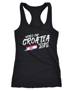 Damen Tanktop Kroatien Croatia Hrvatska Fußball WM Weltmeisterschaft 2018 World Cup Fan-Shirt Moonworks®