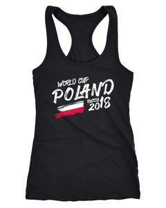 Damen Tanktop Polen Poland Polska Fußball WM Weltmeisterschaft 2018 World Cup Fan-Shirt Moonworks®