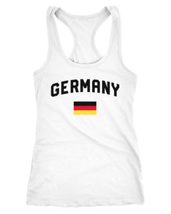 Damen Deutschland Tanktop Fußball WM Weltmeisterschaft 2018 World Cup Fan-Shirt Germany Moonworks®