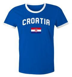 Herren WM-Shirt Kroatien Croatia Hrvatska WM Fußball Weltmeisterschaft 2018 World Cup Moonworks®