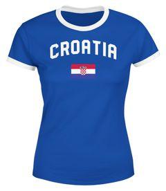 Damen WM-Shirt Kroatien Croatia Hrvatska WM Fußball Weltmeisterschaft 2018 World Cup Moonworks®