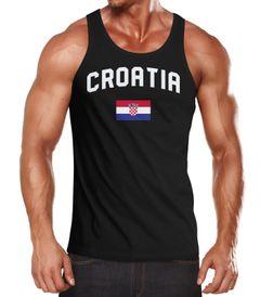 Herren Tanktop Kroatien Croatia Hrvatska WM Fußball Weltmeisterschaft 2018 World Cup Fan-Shirt Moonworks®