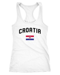 Damen Tanktop Kroatien Croatia Hrvatska WM Fußball Weltmeisterschaft 2018 World Cup Fan-Shirt Moonworks®