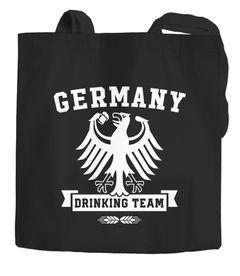 Jutebeutel WM Deutschland Germany Drinking Team Einkaufs-Stoffbeutel Moonworks®