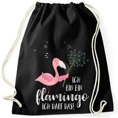 Turnbeutel Flamingo Ich bin ein Flamingo ich darf das Spruch Pusteblume Moonworks®