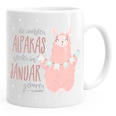 """Kaffee-Tasse die coolsten Alpakas werden im """"Wunschmonat"""" geboren Geschenk-Tasse Geburtstagsgeschenk MoonWorks®"""