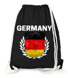 Turnbeutel Fußball EM WM Deutschland Vintage Flagge Germany Gymbag Moonworks®