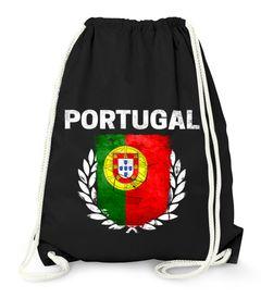 Turnbeutel Fußball EM WM Portugal Vintage Flagge Gymbag Moonworks®