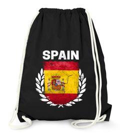 Turnbeutel Fußball EM WM Spanien Flagge Vintage Spain Flag Gymbag Moonworks®