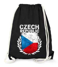 Turnbeutel Fußball EM WM Tschechien Flagge Vintage Czech Republic Flag Gymbag Moonworks®