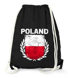 Turnbeutel Fußball EM WM Polen Flagge Vintage Poland Flag Gymbag Moonworks®