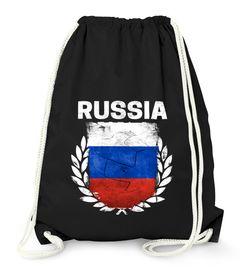 Turnbeutel Fußball EM WM Russland Flagge Vintage Russia Flag Gymbag Moonworks®