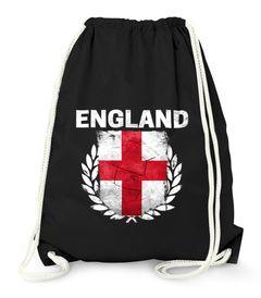 Turnbeutel Fußball EM WM England Flagge Vintage Flag Gymbag Moonworks®