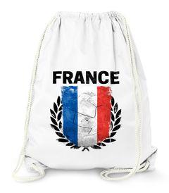 Turnbeutel Fußball EM WM Frankreich Flagge Vintage France Flag Gymbag Moonworks®