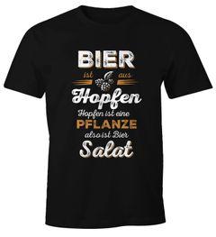 Herren T-Shirt Bier ist aus Hopfen, Hopfen ist eine Pflanze also ist Bier Salat Fun-Shirt Spruch-Shirt Moonworks®