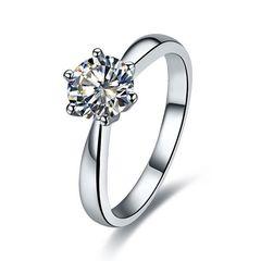 Ring Damen Solitärring Verlobungsring Zirkonia Kristall Antragsring Edel Luxus