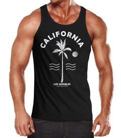 Sommer Tank-Top Herren Retro Design Palme Meer Sonne Muskelshirt Muscle Shirt Neverless®