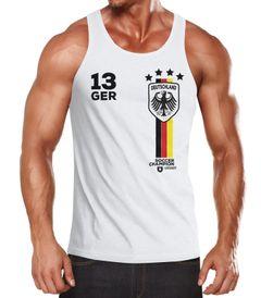 EM WM Tanktop Fanshirt Herren Fußball Deutschland Trikot MoonWorks®
