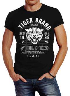 Herren T-Shirt Tiger Brand Tokyo Supply Japan Athletics Sport Aufdruck Slim Fit Neverless®