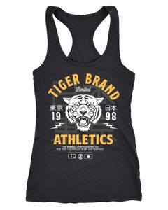 Cooles Damen Tank-Top Tiger Brand Tokyo Supply Japan Athletic Sport Muskelshirt Muscle Shirt Neverless®