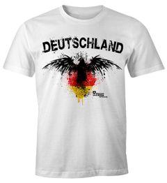 Herren T-Shirt Deutschland Adler Fanshirt EM WM Fußball Fan Shirt MoonWorks