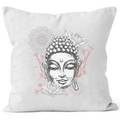 Kissenbezug Buddha Buddha-Kopf Mandala Zen Yoga Meditation Deko Autiga®