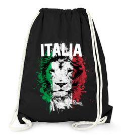 Turnbeutel EM WM Italien Löwe Flagge Italy Lion Flag Fußball MoonWorks®