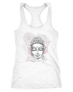 Damen Tank-Top Buddha Buddha-Kopf Mandala Racerback Neverless®