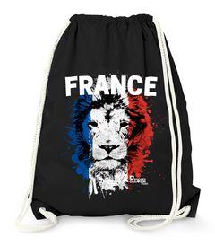 Turnbeutel EM WM Frankreich Löwe Flagge France Lion Flag Fußball MoonWorks®