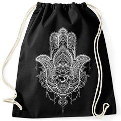 Turnbeutel Hamsa Fatimas Hand Mandala Boho Bohamian Ethno Tribal Ornament Hipster Beutel Tasche Gymsac Autiga®