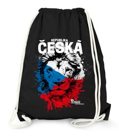 Turnbeutel EM WM Česká republika Löwe Flagge Tschechien Flag Fußball MoonWorks®