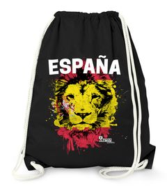 Turnbeutel EM WM Spanien Löwe Flagge España Lion Flag Fußball MoonWorks®