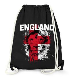 Turnbeutel EM WM England Löwe Flagge Lion Flag Fußball MoonWorks®