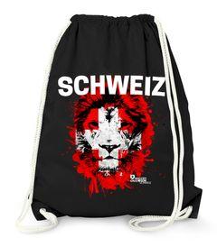 Turnbeutel EM WM Schweiz Löwe Flagge Suisse Switzerland Lion Fußball MoonWorks®