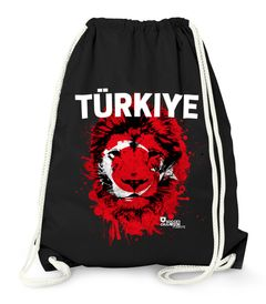 Turnbeutel EM WM Türkei Turkey Türkiye Löwe Flagge Lion Flag Fußball MoonWorks®